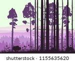 forest landscape minimalistic... | Shutterstock .eps vector #1155635620