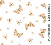 seamless pattern with moths and ...   Shutterstock .eps vector #1155635839