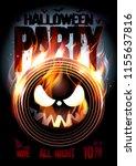 halloween party poster  burning ... | Shutterstock .eps vector #1155637816
