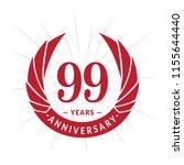 99 years anniversary. elegant...   Shutterstock .eps vector #1155644440