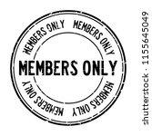 grunge black members only word...   Shutterstock .eps vector #1155645049