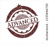 red advanced rubber stamp | Shutterstock .eps vector #1155646720
