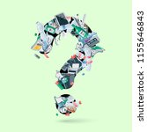 waste creating question figure. ... | Shutterstock .eps vector #1155646843