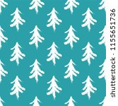 endless christmas pattern with... | Shutterstock .eps vector #1155651736
