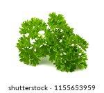 fresh green parsley leaves... | Shutterstock . vector #1155653959