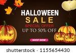 halloween sale background.... | Shutterstock .eps vector #1155654430