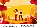 vector illustration in flat... | Shutterstock .eps vector #1155656026