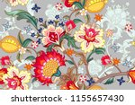 seamless pattern with stylized... | Shutterstock .eps vector #1155657430