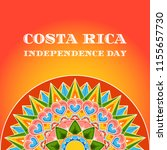 costa rica independence day  15 ... | Shutterstock .eps vector #1155657730
