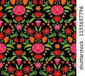 hungarian folk pattern vector... | Shutterstock .eps vector #1155657796