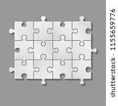 illustration of white puzzle... | Shutterstock . vector #1155659776