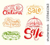 set of autumn lettering. hand... | Shutterstock .eps vector #1155661363