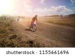 a picture of a biker doing a... | Shutterstock . vector #1155661696