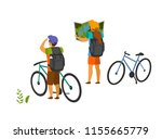 young couple  traveling with... | Shutterstock .eps vector #1155665779