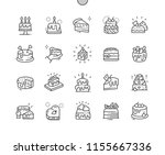 cakes well crafted pixel... | Shutterstock .eps vector #1155667336