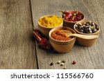 seasonings and some jalapenos... | Shutterstock . vector #115566760