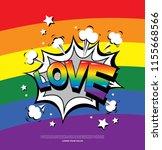 lgbt poster design  lgbt... | Shutterstock .eps vector #1155668566