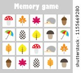 memory game with pictures ... | Shutterstock .eps vector #1155669280