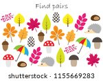find pairs of identical... | Shutterstock .eps vector #1155669283
