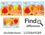 find 10 differences  game for... | Shutterstock .eps vector #1155669289
