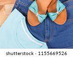 shirts  jeans pants and leather ... | Shutterstock . vector #1155669526