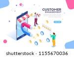 shopping process of customer.... | Shutterstock . vector #1155670036