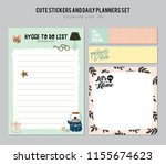 set of planners and to do lists ... | Shutterstock .eps vector #1155674623