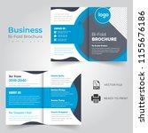 business bi fold brochure or...   Shutterstock .eps vector #1155676186