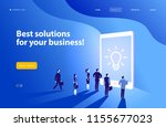 vector web page design template ... | Shutterstock .eps vector #1155677023