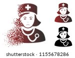 unhappy physician lady icon in... | Shutterstock .eps vector #1155678286