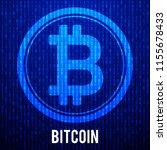 cripto currency bitcoin. global ... | Shutterstock . vector #1155678433