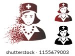 unhappy nurse icon in fractured ... | Shutterstock .eps vector #1155679003