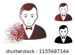 dolor dealer icon in sparkle ... | Shutterstock .eps vector #1155687166