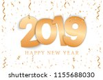 happy new year. gold numbers... | Shutterstock .eps vector #1155688030