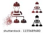 sad builder management icon in... | Shutterstock .eps vector #1155689680