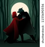 little red riding hood and the... | Shutterstock .eps vector #1155690556