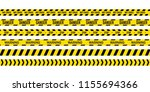 black and yellow police stripe. ... | Shutterstock .eps vector #1155694366