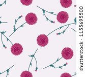 seamless floral pattern with... | Shutterstock .eps vector #1155695500