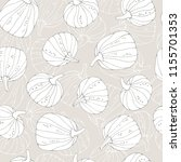 halloween seamless pattern with ... | Shutterstock .eps vector #1155701353
