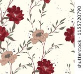elegance pattern with flowers... | Shutterstock .eps vector #1155720790