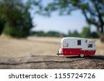 caravan trailer with... | Shutterstock . vector #1155724726