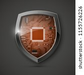 protected guard shield circuit... | Shutterstock .eps vector #1155726226