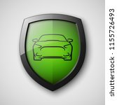 protect car guard shield.... | Shutterstock .eps vector #1155726493