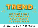 vector of stylized vintage font ... | Shutterstock .eps vector #1155727666