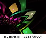abstract fractal patterns and... | Shutterstock . vector #1155730009