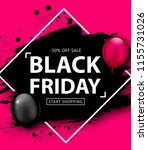 black friday sale poster.... | Shutterstock .eps vector #1155731026