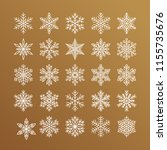 cute snowflakes collection... | Shutterstock .eps vector #1155735676