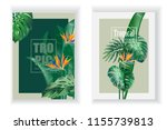 two vertical vector banner with ... | Shutterstock .eps vector #1155739813