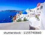 oia  santorini   greece. famous ... | Shutterstock . vector #1155740860