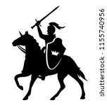 royal knight with sword and... | Shutterstock .eps vector #1155740956